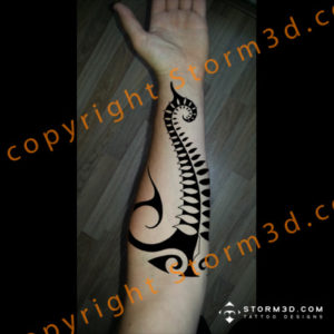 koru-fern-tattoo-maori-design-on-lower-inner-arm