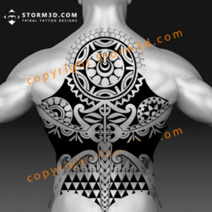 large-back-tattoo-ideas-in-black-tribal-with-symmetry-and-sun-designs