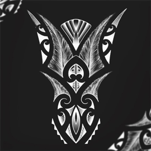 black-canvas-wall-decoration-tribal-maori-tattoos-and-patterns-feathers