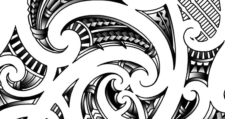 tribal-maori-tattoo-design-canvas-wall-decoration-in-maori-prints-and-patterns