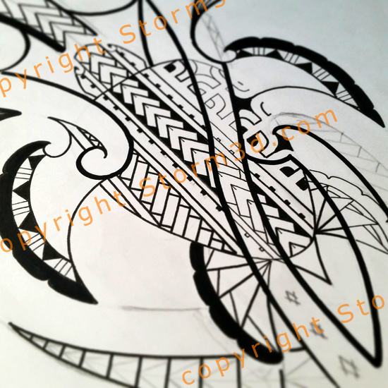 turtle tattoo design ideas with black ink markers and maori patterns