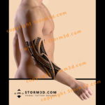 elbow-tattoo-sleeve-polynesian-tribal-patten