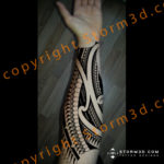 flowing-maori-patterns-forearm-tattoo