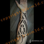 shaded-maori-drawing-for-tattoo-forearm-design