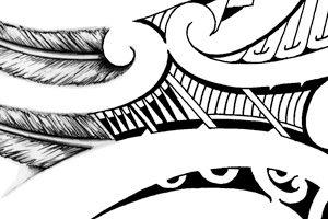 upperback-tattoos-maori-design-feathers-wings-back-tattoo