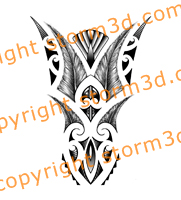 forearm-tattoo-maori-style-feathers-symmetry