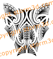 polynesian-leg-tattoo-design-triangle-shark-teeth-wrap