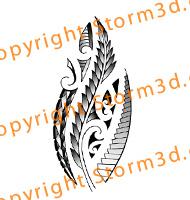 tribal-maori-silverfern-tattoo-design-koru-symbol-New-Zealand-black-white