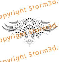 tribal-upperback-tattoo-maori-symmetrical-design-koru