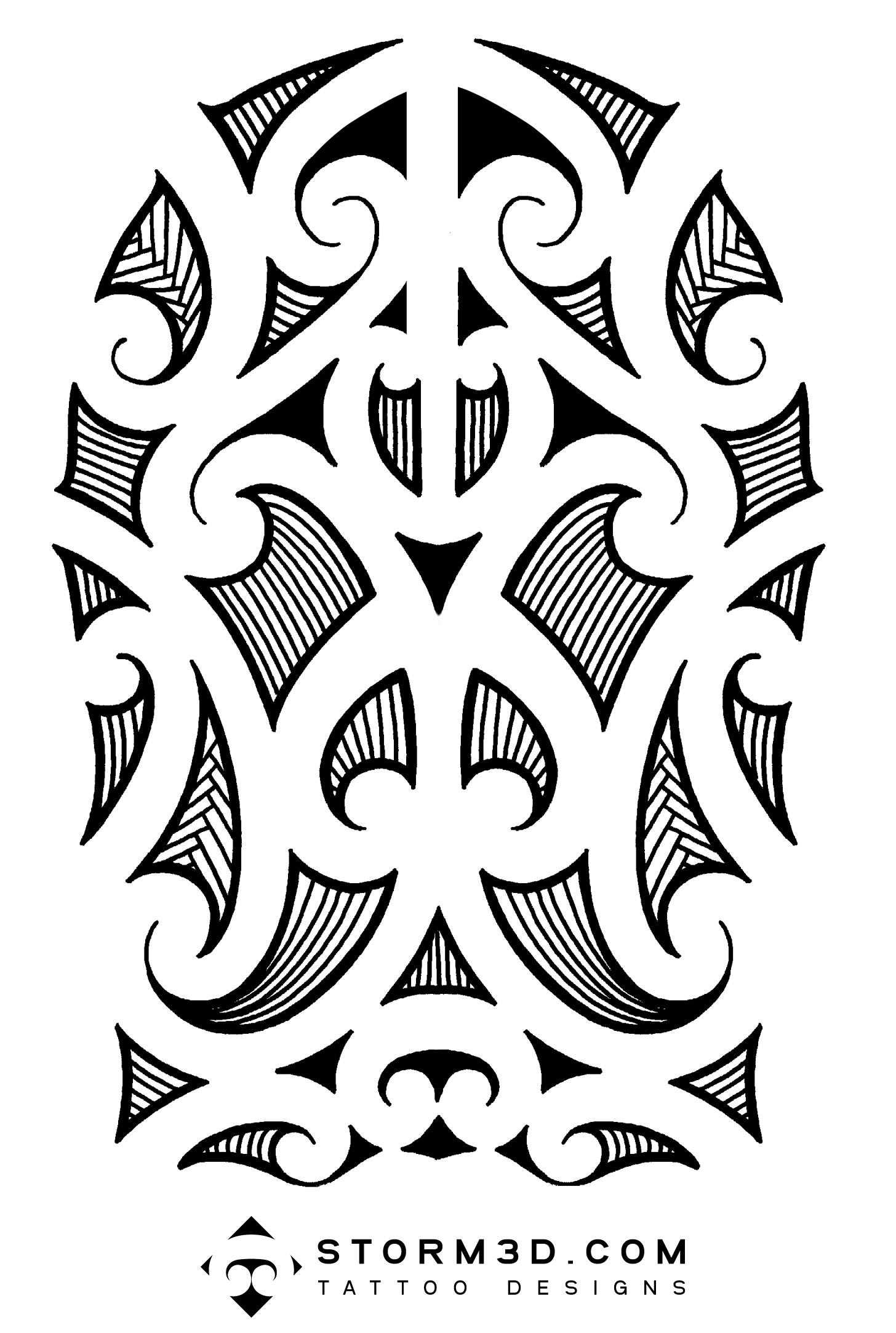 Maori, Samoan and Polynesian inspired tattoo designs, hand drawn ...