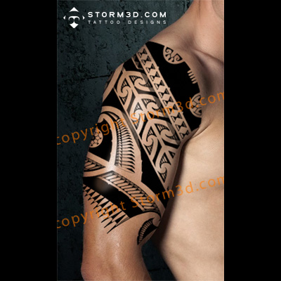 black-ink-maori-tattoo-shoulder-mockup-drawing