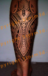 calf-tattoo-samoan-polynesian-style