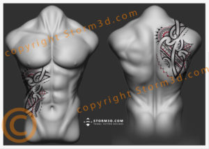 chest-back-tattoo-design-flash-drawings-for-sale-by-Mark-Storm
