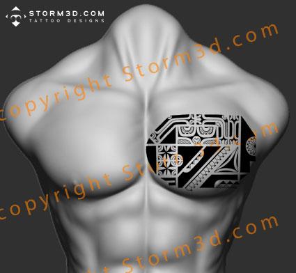 chest-tattoo-marquesas-design-black-flash-images