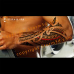 forearm-awesome-tribal-tattoo-examples-with-red-elements