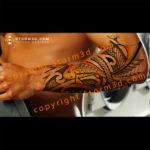 forearm-koifish-tattoo-design-tribal-maori-yellow-art