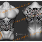 full-tribal-stomach-polynesian-design-storm3d-upperback-maori-black