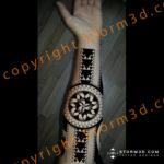inside-forearm-polynesian-black-round-tattoo-design-triangle-arrows
