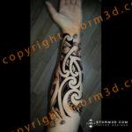 japanese-forearm-tattoo-with-maori-koru-shapes-mixed