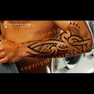 lower-arm-forearm-maori-tattoo-design-flash-sheet-for-sale-buy-high-resolution-storm3d