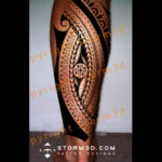 maori-calf-tattoo-design