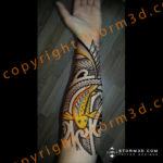 maori-inner-forearm-with-koifish-design