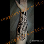 polynesian-forearm-sleeve-tattoo-wrapping-around-side