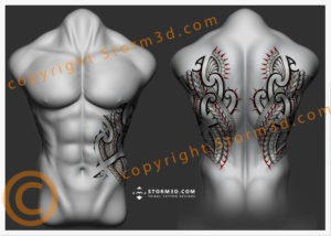 ribs-tattoos-and-upperback-design