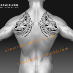 shoulderblade wing design tribal polynesian style