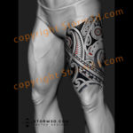 thigh-tribal-polynesian-maori-tattoodesign-flash-ta-moko