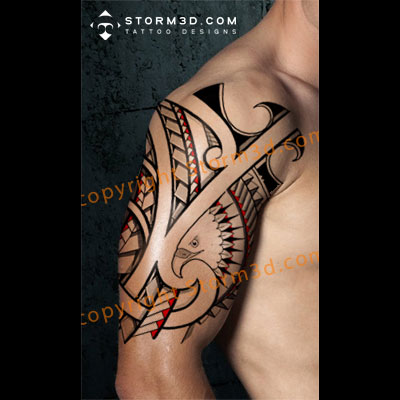 tribal-eagle-tattoo-on-shoulder-design-maori