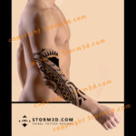tribal-elbow-tattoo-with-polynesian-symbols