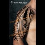 tribal tattoos for the lower leg calf