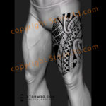 upper-leg-thigh-tattoo-design-with-repeating-polynesian-symbols