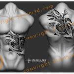 upperback-turtle-tattoo-design-tribal-polynesia