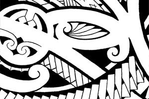chestpiece-tattoo-tribal-polynesia-art-flash-images-for-sale