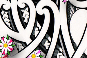 crisp-japanese-maori-mix-tattoo-examples-cherry-blossoms
