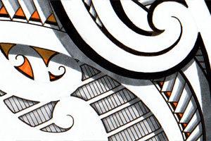maori-orange-design-tribal-style-tattoo-drawings-for-sale
