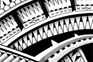 Polynesian Forearm Tattoo Drawing Buy High Resolution Stencil Online