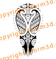polynesian-calf-tattoo-mixed-maori-design