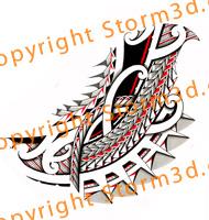 polynesian-tatau-forearm-spearhead-symbols-red-tribal