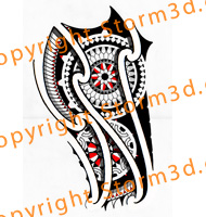 red-maori-tattoo-design