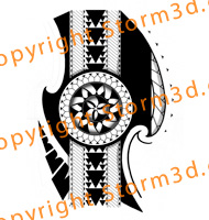 tribal-sun-polynesia-tattoodesign-for-the-legs