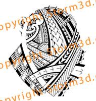 Samoa Polynesia pattern tattoos designer