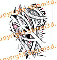 forearm-halfsleeve-tribal-tattoo-maori-layers-red
