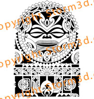 halfsleeve-Polynesian-island-tatau-designs-for-sale-flashtattoos