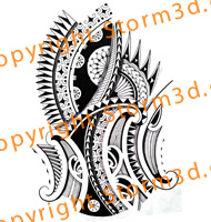 halfsleeve-polynesian-black-tattoo-design-storm3d-buy-flash