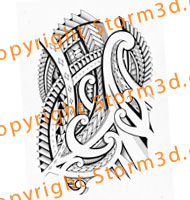halfsleeve-tattoo-flash-designs-drawings-polynesian-maori-tribals