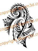 high quality tribal flash polynesian samoan style