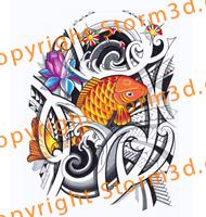 polynesian-koifish-design-tattoo-polynesia-tribal-storm3d